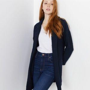 Marine Layer Blue/Black Birdseye Cardigan Coat XS
